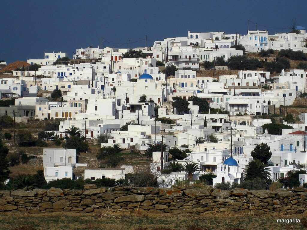 WHITE HOUSES IN A VILLAGE